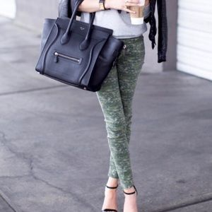 Rag & Bone Green Digital Camo Ultra Skinny Jeans